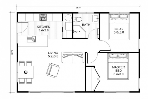 Bellbird - 2 Bedroom
