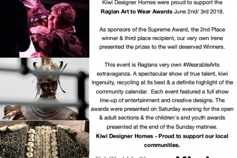 Supporting our Communities - Raglan Art to Wear 2018